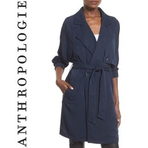 ANTHRO Leith Notch Collar Trench Jacket